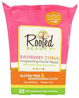 Rooted Beauty Facial Wipes Raspberry Citrus