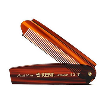 Kent - The Handmade Comb Gentleman's Folding Pocket Comb Sawcut 82T