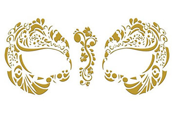 Masque Rage Gold Flakes Tattoo Mask