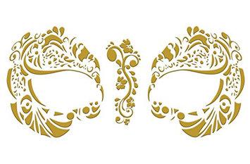 Masque Rage Gold Flakes Tattoo Mask