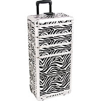 Sunrise interchangeable 4 in 1 pro rolling cosmetic makeup artists case 3 trays dividers 3 drawers