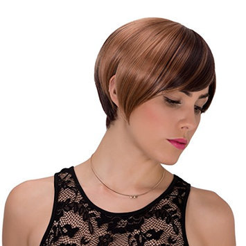 Probeauty Mix Short Side Bang Straight Wig for Women