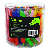 Annie Assorted Color Croco Clips in PVC Jar