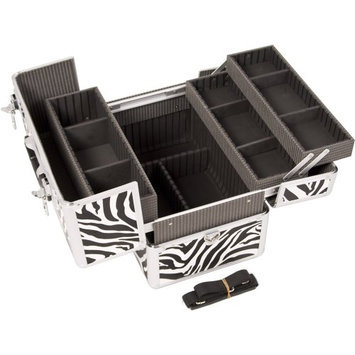 JustCase 3 Easy Slide Extendable Trays Pro Cosmetic Makeup Case with Dividers