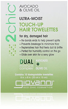 Giovanni 2chic Avocado and Olive Oil Ultra-Moist Super Potion Touch Up Hair Towelettes