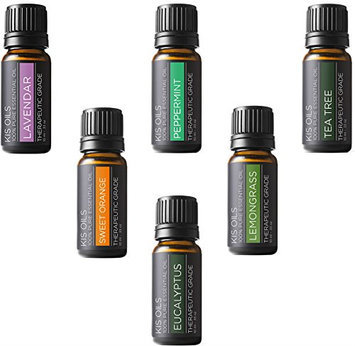 Kis Oil'S Aromatherapy Top 6 Therapeutic Grade Essential Oil Gift Set