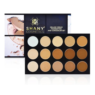 SHANY Cosmetics Professional Cream Foundation and Camouflage Concealer 15 Color Palette