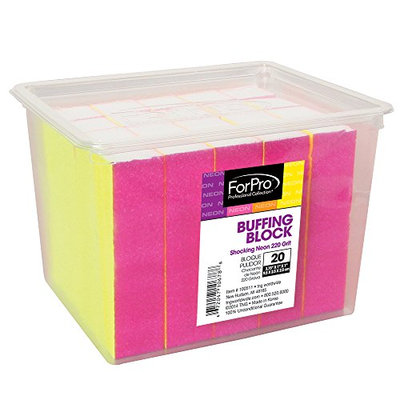 For Pro Shocking Neon Buffing Block 220 Grit