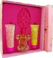 Betsey Johnson By Betsey Johnson For Women. Set-eau De Parfum Spray 3.4-Ounces & Body Lotion 2.5-Ounces & Shower Gel 2.5-Ounces