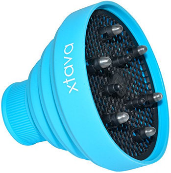 Collapsible Diffuser for Hair Dryer - Smart Folding Design for easy Carrying and Storage by Xtava TM (Blue)