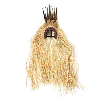 Zucker Feather Products Tribal Headdress with Pheasant and Raffia