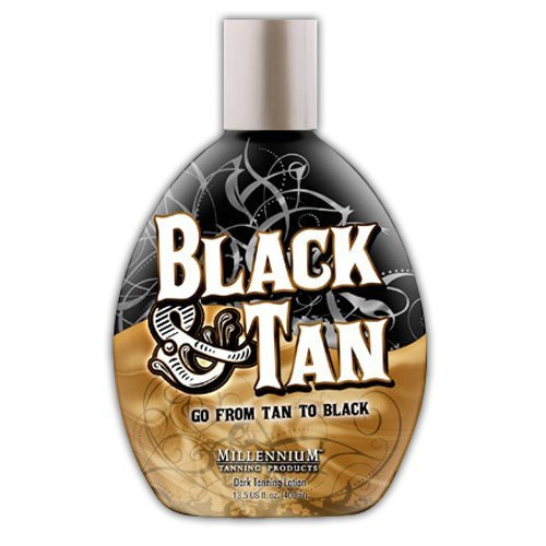 Millenium Tanning Black and Tan 75X Bronzer Indoor Dark Lotion Tanning