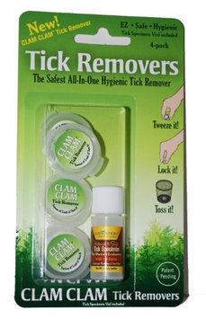 CureCeuticals Clam Clam Tick Removers with Specimen Vial