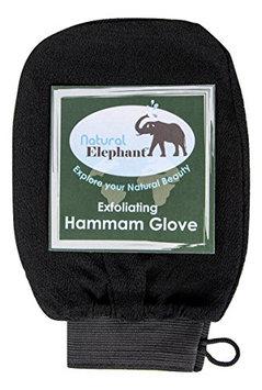 Natural Elephant Exfoliating Hammam Glove - Face and Body Exfoliator Mitt (Pure Black)