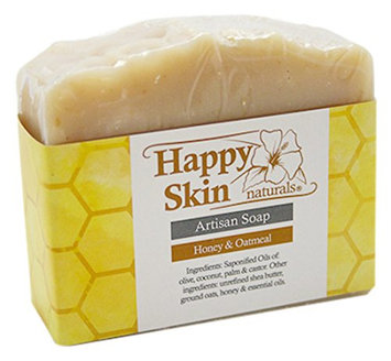 Happy Skin Naturals Honey & Oatmeal Artisan Soap