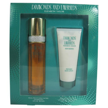 Diamonds & Emeralds By Elizabeth Taylor For Women. Gift Set ( Eau De Toilette Spray 3.3 Oz + Body Lotion 3.3 Oz).