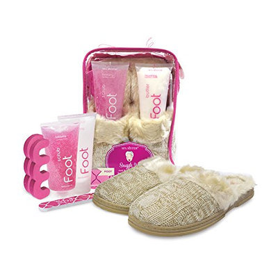 Bath Accessories Cable-Knit Slippers Foot Spa Set