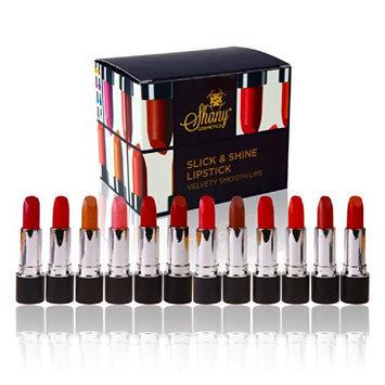 SHANY Slick & Shine Lipstick Set - Set of 12 Famous Colors