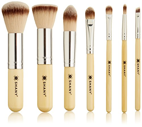 SHANY 7 Piece Petite Pro Bamboo Brush Set with Carrying Case