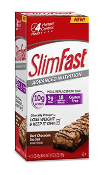 SlimFast® Advanced Nutrition Dark Chocolate Sea Salt Meal Replacement Bars