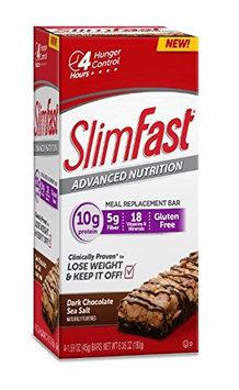 SlimFast Advanced Nutrition Dark Chocolate Sea Salt Bars