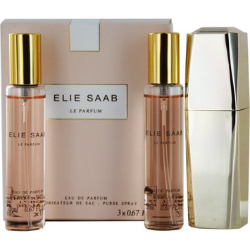 Elie Saab 3 Piece Le Parfum Purse Refill Spray Set for Women