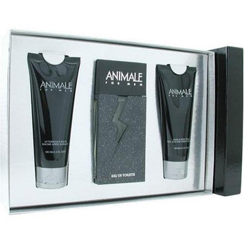 Animale By Animale Parfums For Men. Set-edt Spray 3.3 oz & Aftershave Balm 3.4 oz & Body Wash 3.4 oz