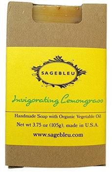 Sagebleu Organic Bar Soap Invigorating Lemongrass