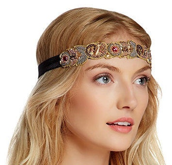 Jolie USA Color Jewel Stretch Ribbon Headband
