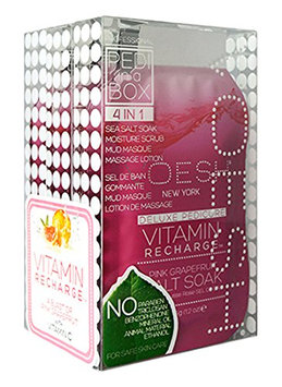 Voesh Mani.Pedi-Cure System Pedi In A Box Kit Vitamin Recharge Pedicure Treatment