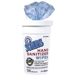 Dymon SCRUBS Antimicrobial Hand Sanitizer Wipes, 9-3/4 inches x 10