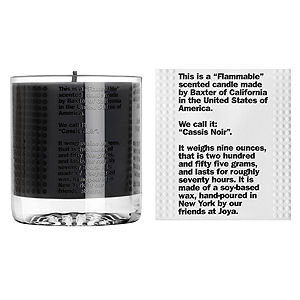 Baxter of California Flammable Candle Cassis Noir