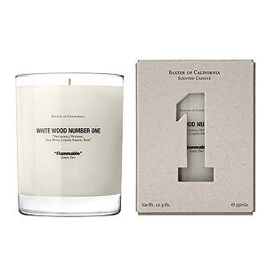Baxter of California White Wood Candle Number 1