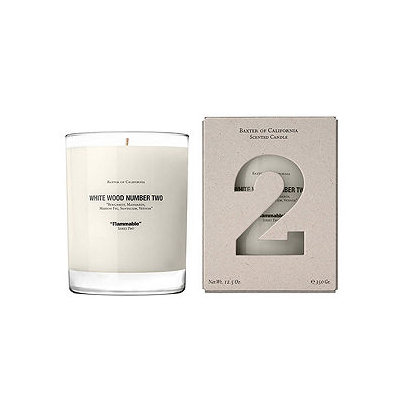 Baxter of California White Wood Candle Number 2