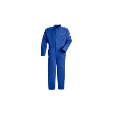 Bulwark FR Contractor Coverall (Blue, XL, HRC2). Model: CEC2RB LN/48