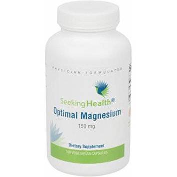 Optimal Magnesium , Best Magnesium Supplement , Provides 150 mg Pure Magnesium Per Dose , 100 Easy-To-Swallow Vegetarian Capsules , Free of Common Allergens and Magnesium Stearate , Physician Formulated , Seeking Health
