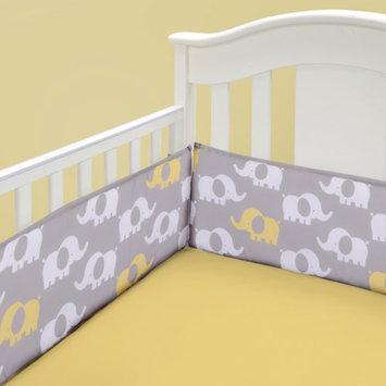 Baby Boom Modern Elephant Crib Sheet, Yellow