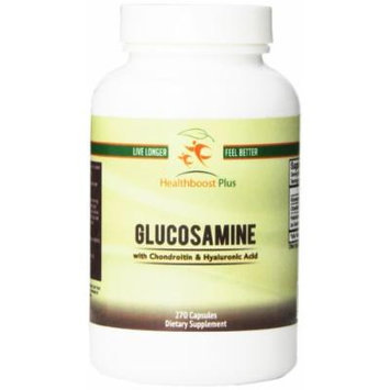 Healthboost Plus Glucosamine Sulfate with Chondroitin and Hyaluronic Acid Nutritional-Supplement, 270 Count