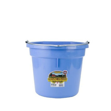 Miller Mfg Miller Manufacturing P20FBBERRYBLUE Plastic Flat Back Bucket for Horses, 20-Quart