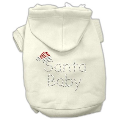 Mirage Pet Products 542510 XSCR Santa Baby Hoodies Cream XS 8