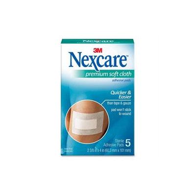 3M MMMH3564 Nexcare Soft Cloth Premium Adhesive Gauze Pad Pack of 5