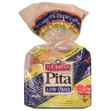 Toufayan Bakeries Low Carb Pita Bread, 6 pack