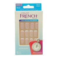 Kiss® Products Broadway Fast French, Medium, True Pink, 24 Nail Kit