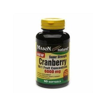 Mason Natural Cranberry Super Strength 6000mg 50:1, Softgels 60 ea