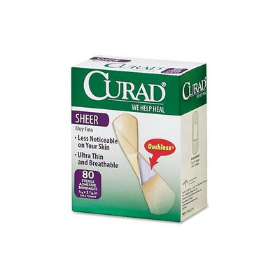 Medline Curad Sheer Bandages, Clear, 80 per Pack