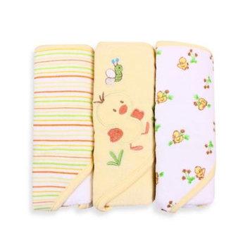 SpaSilk 3 Pack Hooded Towels - Yellow Duck