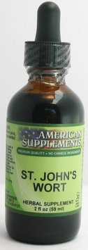 St. John's Wort No Chinese Ingredients American Supplements 2 oz Liquid