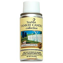 TimeMist Yankee Candle Micro 3000 Air Freshener Refills, Clean Cotton