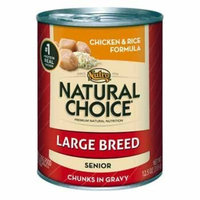 Nutro Natural Choice Chicken and Rice Formula Chunks in Gravy Large Breed Senior Canned Dog Food