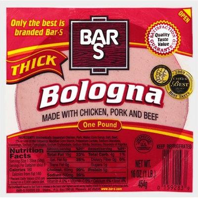 Bar-S: Thick Bologna, 16 Oz